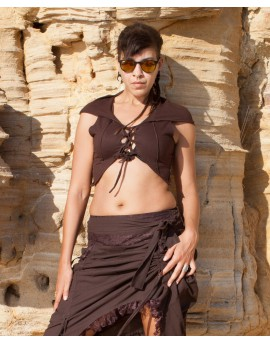 Hooded pixie top. Look amazing on this year summer festivals!!! Front view