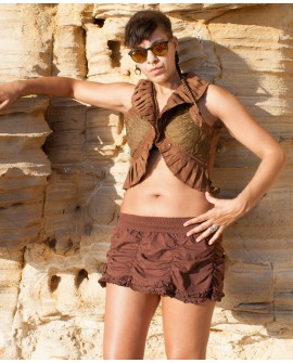 Steampunk vest - cotton and lycra (0090)