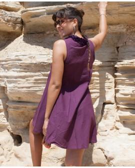 A-line dress - cotton, lace (0061)