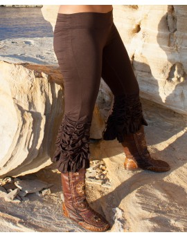 American style boho leggings made of lycra. Flared leggings. Wear these leggings next time you go with burlesque vibe or hippie