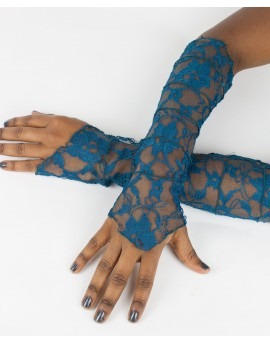 Fairy sleeves / gloves made from lace. Look sexy next time you go out!!! Amazing patterns. Blue colour