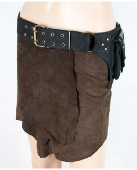Multi pockets waist bag made of strong canvas. Vegan alternative to leather pocket belts.