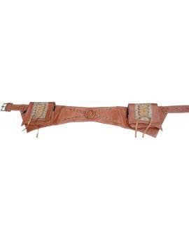 Steampunk pocket belt - leather (0015)