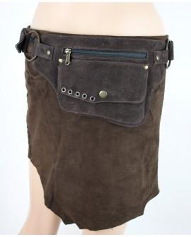 Waist bag - brown leather (0016)