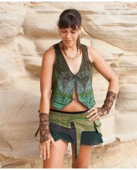 EarthyWear - Festival, psytrance wrap skirt.