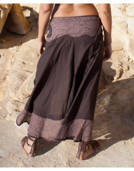 Wrap around, multiway skirt that can we worn in many ways. Pull few strings and transform your look in no time....
