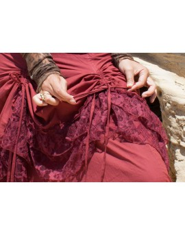 EarthyWear - Long gypsy skirt (cotton and lace)