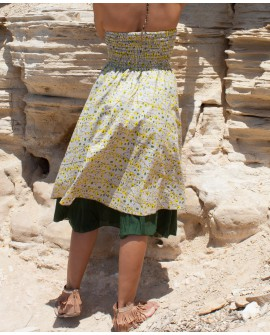 Long skirt that can be worn as a dress. Multiway clothing from EarthyWear. View 3