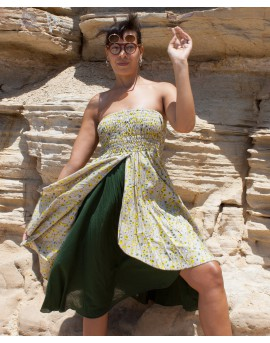 Long skirt that can be worn as a dress. Multiway clothing from EarthyWear
