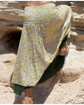 Long skirt that can be worn as a dress. Multiway clothing from EarthyWear. View 4