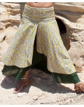 EarthyWear - double layer long skirt