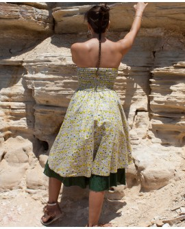 EarthyWear - double layer long skirt. View 2