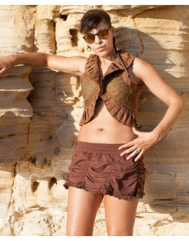 Steampunk vest - cotton and lycra (0090)