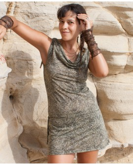 EarthyWear - short bohemian dress (lycra)