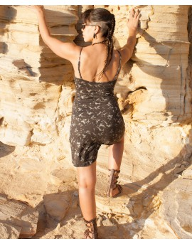 EarthyWear - summer A-line dress (cotton, lycra). Back view