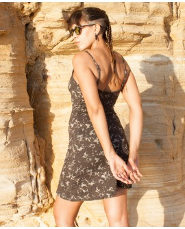 Summer dress - cotton-lycra (0049). Side view