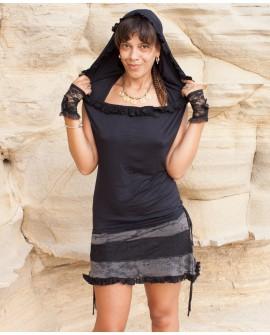 EarthyWear - Hoodie backless dress (lycra)