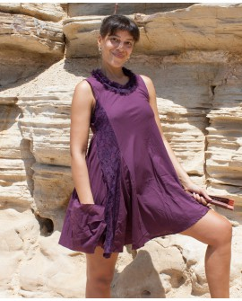 EarthyWear - A-line dress (cotton with lace)