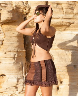EarthyWear - bohemian mini skirt (cotton)