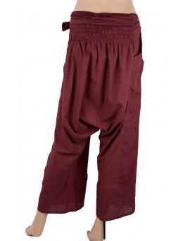 Drop crotch pants. They have elasticated panel at the back plus additional straps at the front for perfect fit. Great for yoga a