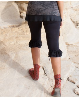 EarthyWear - Burlesque leggings (lycra and lace)