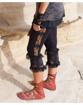 Boho, festival leggings made of lycra and lace.