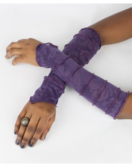 Amazing patterns. EarthyWear - fairy gloves, party sleeves. Purple colour