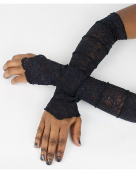 Fairy sleeves / gloves made from lace. Look sexy next time you go out!!! Amazing patterns. Black colour