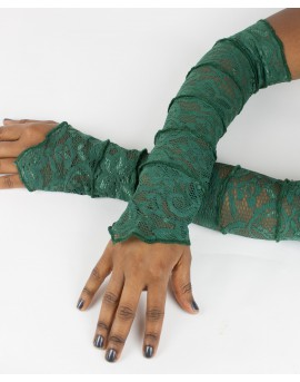 Fairy sleeves / gloves made from lace. Look sexy next time you go out!!! Amazing patterns. Green colour