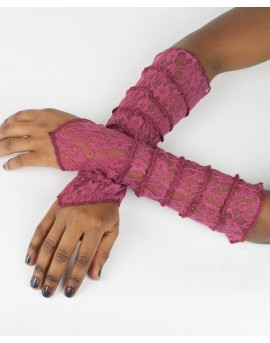 EarthyWear - fairy gloves, party sleeves (lace)
