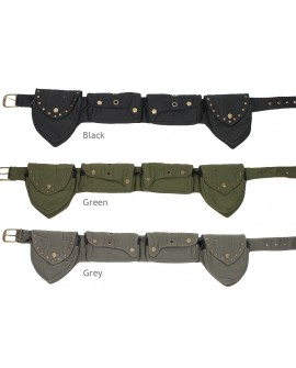 EarthyWear - Steampunk pocket belt (canvas) - available colours.