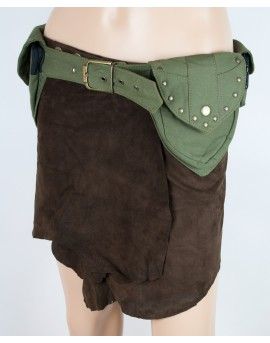 Steampunk utility belt made of strong fabric. Store your valuables securely next time you go travel.