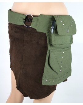 Large utility belt made from strong fabric. Alternative to leather, vegan pocket belt