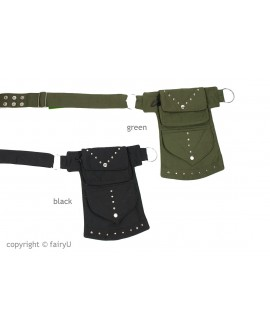 EarthyWear - waist bag with pockets (canvas)