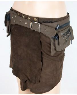 Steampunk pocket belt - canvas (0007)