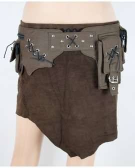 Steampunk pocket belt - canvas (0007)