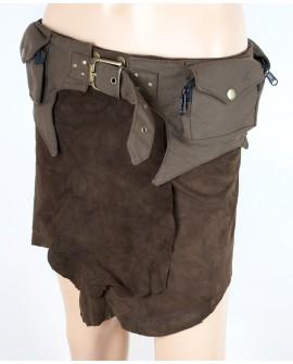 Pocket belt. Perfect for travelling and festivals. Steampunk design.