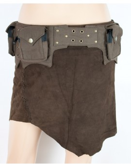Alternative to leather, vegetarian pocket belt with secret pockets.