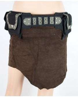 Steampunk pocket belt made of strong fabric. It has many pockets