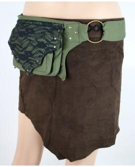 Boho waist bag - canvas (0011)