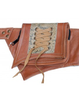 Steampunk pocket belt - leather (0015)