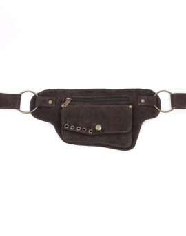Belt bag made from suede leather. Organise your valuables better with this leather fanny pack.