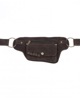 Waist bag - brown leather (0016)