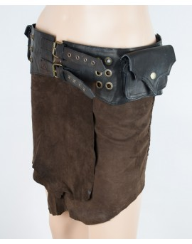 Steampunk pocket belt with secret pockets. Perfect for festivals and travel.