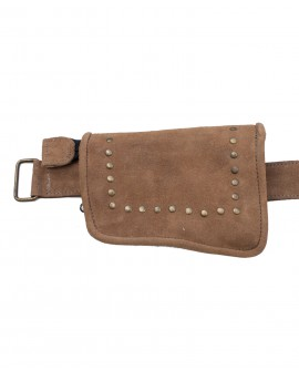 Waist pouch - suede leather (0025)