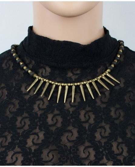 Tribal brass necklace (0007)