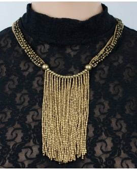 Stylish brass necklace (0013)