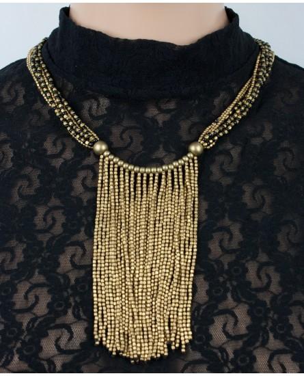 Stylish brass necklace (0013)