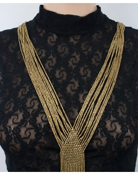EarthyWear - Braided brass statement necklacace