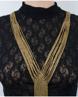 Stylish brass necklace (0019)